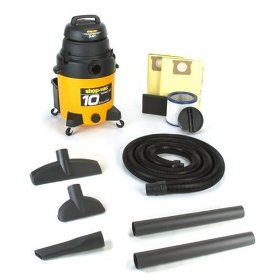 Show details of Shop-Vac 925-13 10-Gallon 4.5 HP Wet/Dry Vacuum Drywall Package.