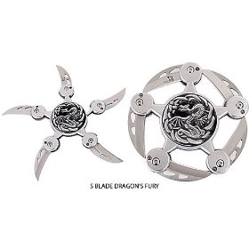 Show details of Gungfu 5 Blade Dragon's Fury Star - Size: 4.5 inches.