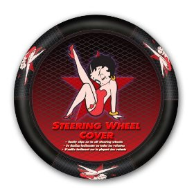 Show details of Betty Boop Star Style Steering Wheel Cover.