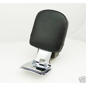 Show details of HARLEY SOFTAIL DEUCE FXSTD CHROME BACKREST SISSY BAR.