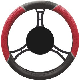 Show details of Elegant 43219 Nx Racing Style without Logo Steering Wheel Cover.