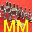 Show details of Anytime Tools 10 Professional METRIC (MM) HEX BIT SOCKET SET HEAVY DUTY CRV.