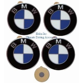 Show details of 4 BMW Genuine Wheel Center Cap Emblems Decals Stickers 58mm.