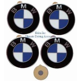 Show details of 4 BMW Genuine Wheel Center Cap Emblems Decals Stickers 58mm.