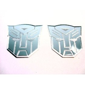 Show details of Transformers Autobots Aluminum Emblems Gray.
