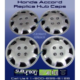 "Show details of 124 Series Honda Accord 15"" Replica Hub Caps."