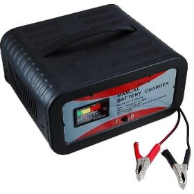Show details of Heavy Duty 12-Volt Battery Charger - Two Power Settings for Small to Large Batteries - Over-charge Protection.