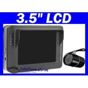 "Show details of 4UCAM 3.5"" LCD Wireless Backup Camera System - Round Truck RV Rear view Camera + Color 3.5"" LCD Monitor + Night Vision."