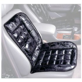 Show details of Leather Lumbar Support Cushion.