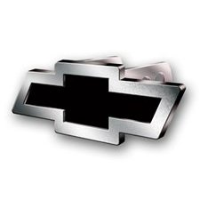 Show details of Chevy Bowtie (Brushed Finshed) Hitch Cover.