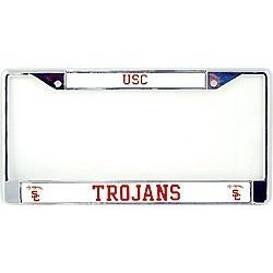 Show details of USC Trojans Chrome License Plate Frame.
