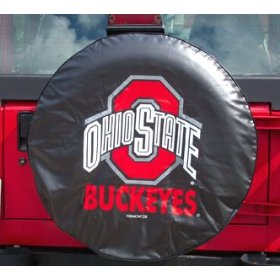 Show details of Ohio State Buckeyes NCAA Spare Tire Cover (Black).