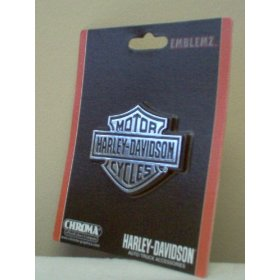Show details of Harley Davidson Chrome Plated Emblem Auto Truck Accessory Decal.