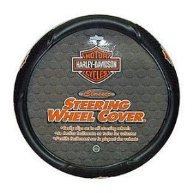 Show details of PlastiColor 6340 Harley-Davidson Style Steering Wheel Cover.
