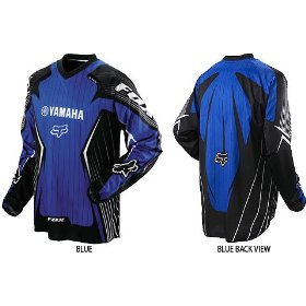 Show details of Fox Racing Yamaha HC Men's MotoX Motorcycle Jersey - 2009 Model - Color: Blue, Size: Medium.