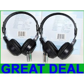 Show details of 2 Infrared Wireless Headphones for your car DVD system.