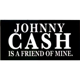 Show details of Johnny Cash - Johnny Cash Is A Friend Of Mine - Sticker / Decal.
