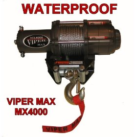 Show details of Viper Max 4000 lb Winch - Waterproof.
