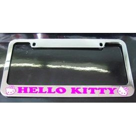 Show details of Hello Kitty License Plate Frame.