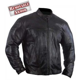 Show details of 'Motorcycle Armored Leather Jacket' - Size : 4XL.