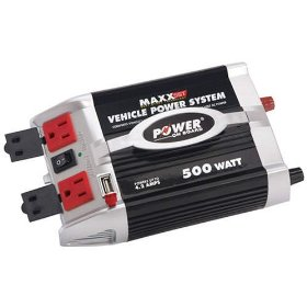 Show details of Power on Board 500 Watt Power Inverter with USB Charging Po.