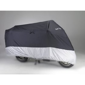 "Show details of Triumph Tiger Motorcycle Cover, Come with 45""Cable & Lock, Black, XL."
