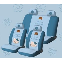 Show details of FREE upgrade any shipping service to PRIORITY MAIL (only takes about 2-3days.) -HolNew Hello Kitty Universal Car Seat Cover - 10pcs Full Set... Blue.