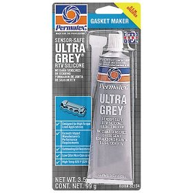 Show details of Permatex 82194 #599 Ultra Grey RTV Gasket Maker, 3.5 oz. Tube.