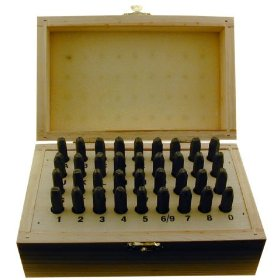 Show details of 5/32'' (4mm) NUMBER N LETTER PUNCH 36 PIECE SET 4mm (5/32'').