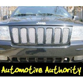 Show details of Jeep Grand Cherokee Chrome Mesh Grille Insert 99-03.