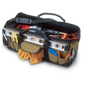 Show details of Custom LeatherCraft 1164 32 Pocket - 24-Inch Megamouth Tote Bag.