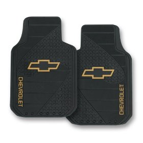 Show details of Chevy Factory Style Trim-To-Fit Molded Passenger/Driver Front Floor Mats - Set of 2.