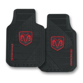 Show details of Dodge Factory Style Trim-To-Fit Molded Passenger/Driver Front Floor Mats - Set of 2.