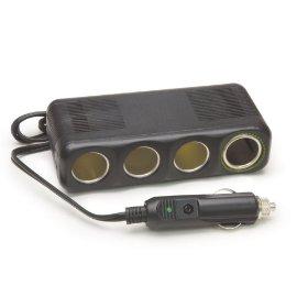"Show details of 12V, 4 Outlet Platinum Series Cigarette Lighter Adapter with 30"""" Cord""."