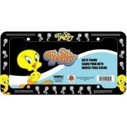 Show details of Tweety Bird License Plate Frame (Plastic).