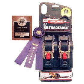 "Show details of Erickson Professional Series Re-Tractable Ratcheting Tie-Down Straps 2"" x 6' - 4000 lb. #34414."