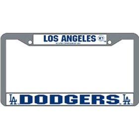 Show details of Los Angeles Dodgers MLB Chrome License Plate Frame.