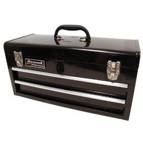 Show details of HOMAK BK01022001 2-Drawer Tool Box/Chest Black.