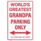 Show details of Metal Parking Sign - World's Greatest Grandpa.