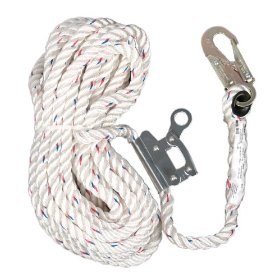 Show details of AO Safety 94023 Safewaze 50-Foot Rope Lifeline with Rope Grab.