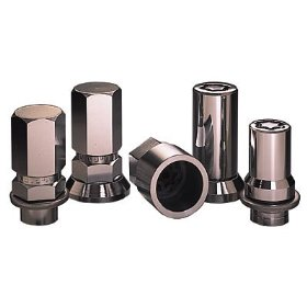 Show details of McGard 25257 Chrome Tuner Style Cone Seat Wheel Locks (M12 x 1.5 Thread Size) - Set of 4.