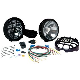 Show details of KC HiLiTES 124 SlimLite Black 100-Watt Driving Light System.