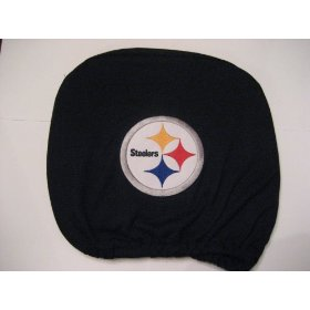 Show details of Pittsburgh Steelers Headrest Covers (2 Pack) Covers.