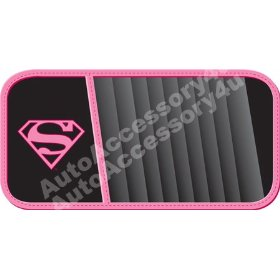 Show details of Supergirl Shield Design 10 CD Visor Organizer.
