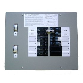 Show details of GenTran 301660 30 Amp 6-Circuit Transfer Switch for up to 7,500-Watt Generators.