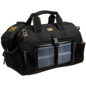 Show details of Custom LeatherCraft 1544 18 Tote Bag with Swivel Parts Organizer.