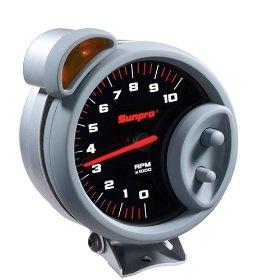 Show details of Sunpro CP7900 Sport Super Tachometer - Black Dial.