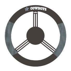 Show details of Dallas Cowboys Mesh Steering Wheel Cover.