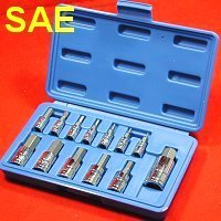 Show details of Professional 13 pc SAE STANDARD HEX ALLEN WRENCH BIT SOCKET TOOL SET.