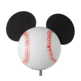 Show details of Disney's Baseball Mickey Mouse Antenna Ball Topper.
